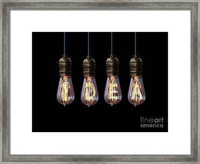 Light Bulb Background Framed Print by Setsiri Silapasuwanchai