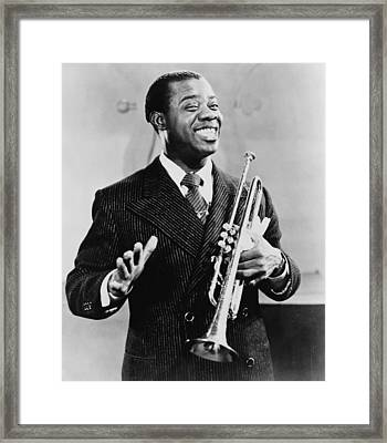 Louis Armstrong 1901-1971, African Framed Print by Everett