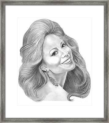 Mariah Carey  Framed Print by Murphy Elliott