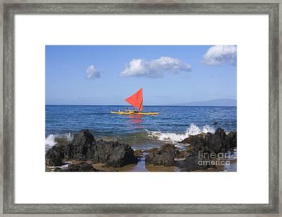 Maui Sailing Canoe Framed Print by Ron Dahlquist - Printscapes