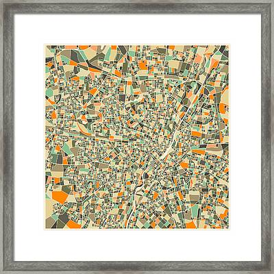 Munich Map Framed Print by Jazzberry Blue