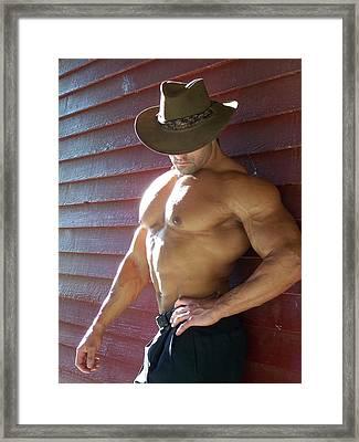 Muscle Art America Marius Framed Print by Jake Hartz