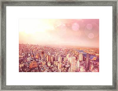 New York City Skyline Framed Print by Vivienne Gucwa