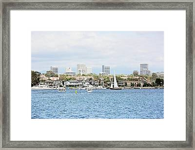 Newport Harbor Framed Print by Scott Pellegrin