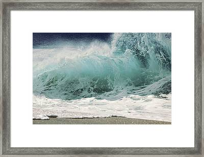 North Shore Wave Framed Print by Vince Cavataio - Printscapes