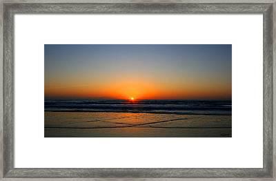 Ocean Sunrise Sunset Framed Print by W Gilroy