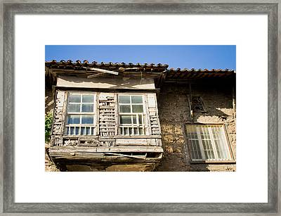 Old Window Framed Print by Tom Gowanlock