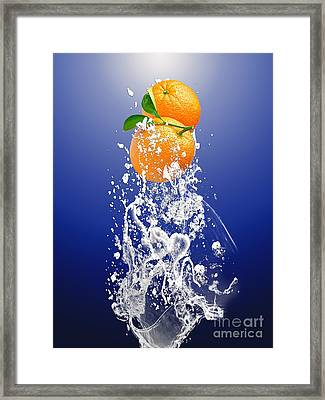 Orange Splash Framed Print by Marvin Blaine