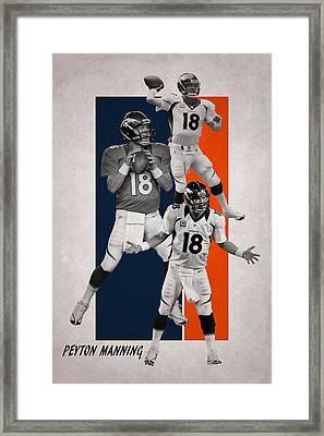 Peyton Manning Denver Broncos Framed Print by Joe Hamilton