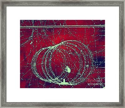 Positron Tracks Framed Print by Omikron