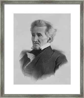 President Andrew Jackson  Framed Print by War Is Hell Store