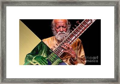 Ravi Shankar Collection Framed Print by Marvin Blaine