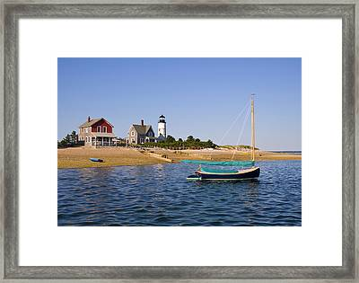 Sandy Neck Lighthouse Framed Print by Charles Harden