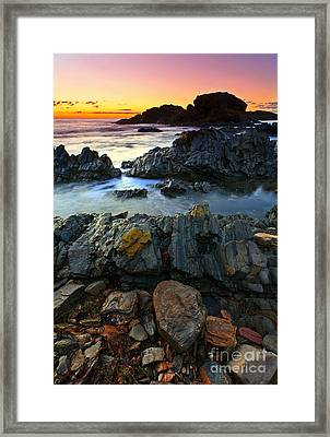 Second Valley Sunset Framed Print by Bill  Robinson