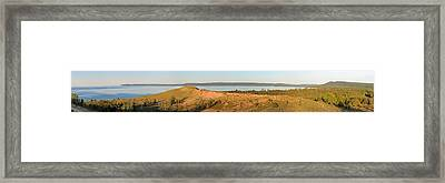 Sleeping Bear Dunes Panorama Framed Print by Twenty Two North Photography