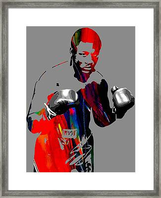 Smokin Joe Frazier Collection Framed Print by Marvin Blaine