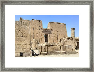 Temple Of Edfu - Egypt Framed Print by Joana Kruse