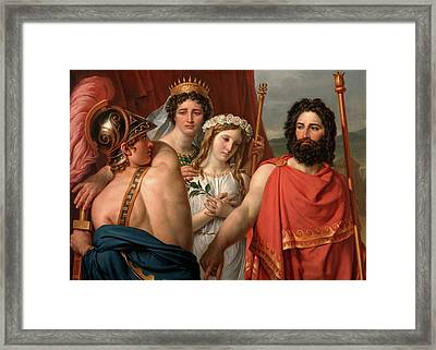 The Anger Of Achilles Framed Print by Jacques-Louis David