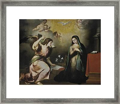The Annunciation Framed Print by Bartolome Esteban Murillo