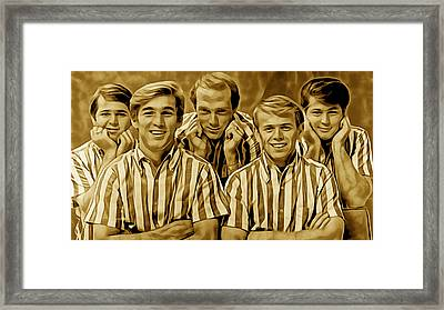 The Beach Boys Collection Framed Print by Marvin Blaine