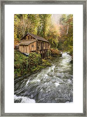 The Cedar Creek Grist Mill In Washington State. Framed Print by Jamie Pham