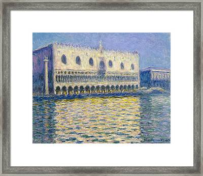 The Doge's Palace  Framed Print by Claude Monet