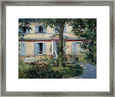 The House At Rueil Framed Print by Edouard Manet