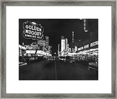 The Las Vegas Strip Framed Print by Underwood Archives