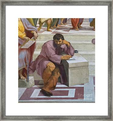 The School Of Athens By Raphael Framed Print by Roberto Morgenthaler