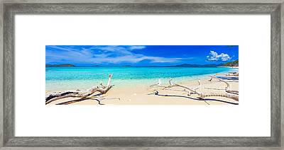 Tropical Beach Malcapuya Framed Print by MotHaiBaPhoto Prints