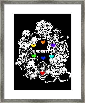 Undertale Framed Print by Rene Gut