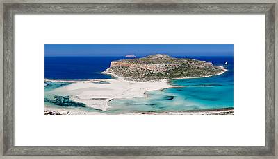 View Of The Balos Beach, Gramvousa Framed Print by Panoramic Images