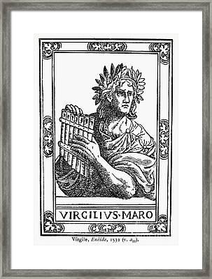 Virgil (70-19 B.c.) Framed Print by Granger