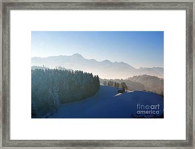 Winter In Switzerland Framed Print by Susanne Van Hulst