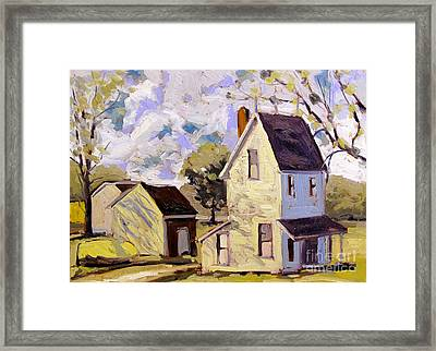 400 North Summers Shadows Framed Framed Print by Charlie Spear