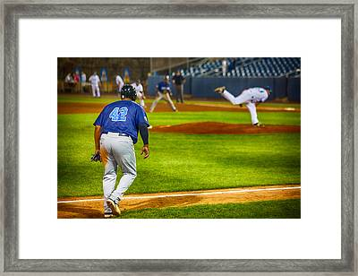 42 Coming Home Framed Print by Karol Livote