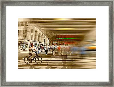 42nd Street At Pershing Square Framed Print by Diana Angstadt