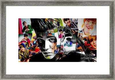 Justin Bieber Collection Framed Print by Marvin Blaine