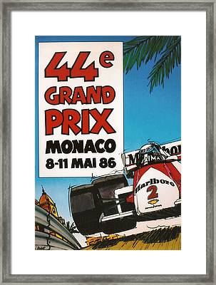 44th Monaco Grand Prix 1986 Framed Print by Georgia Fowler