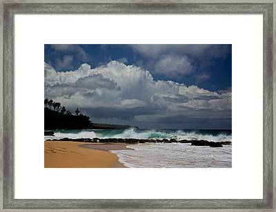 Secret Beach Framed Print by Steven Lapkin
