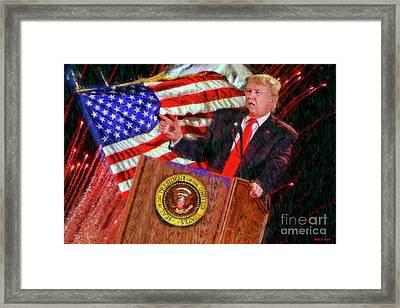 45th President Donald J Trump Framed Print by Blake Richards