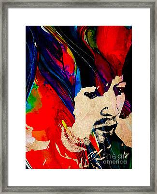 Eric Clapton Collection Framed Print by Marvin Blaine