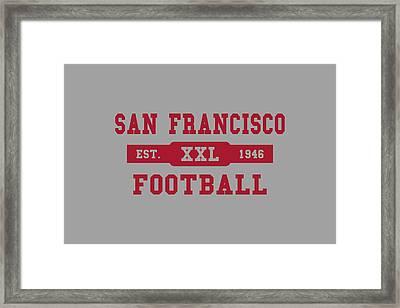49ers Retro Shirt Framed Print by Joe Hamilton