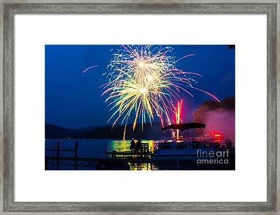 4th Of July Finger Lakes Fireworks Framed Print by John Baumgartner