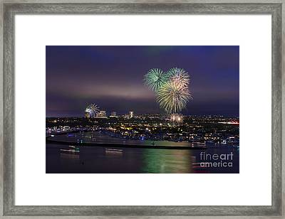 4th Of July Fireworks Framed Print by Eddie Yerkish