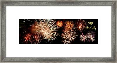 4th Of July - Fireworks Framed Print by Nikolyn McDonald