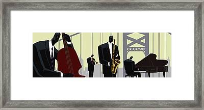 4th Street Bridge Quartet  Framed Print by Darryl Daniels