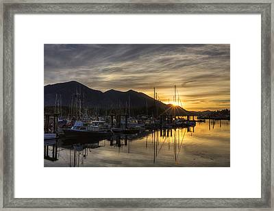 4th Street Docks Sunrise - Tofino Framed Print by Mark Kiver