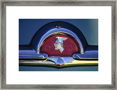 1953 Mercury Monterey Emblem Framed Print by Jill Reger