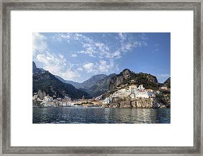 Amalfi - Amalfi Coast Framed Print by Joana Kruse